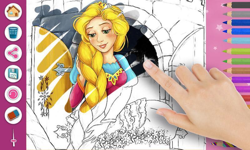 Android Için Rapunzel Boyama Kitabı Sayfaları Apkyı Indir