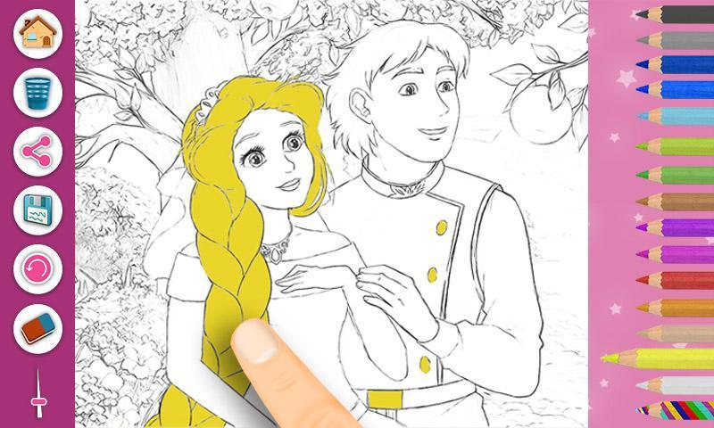 Android Icin Rapunzel Boyama Kitabi Sayfalari Apk Yi Indir