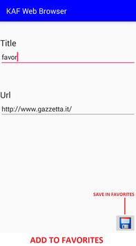 KAF Web Browser screenshot 3