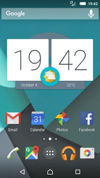 Material Cyan (Xperia Theme) poster