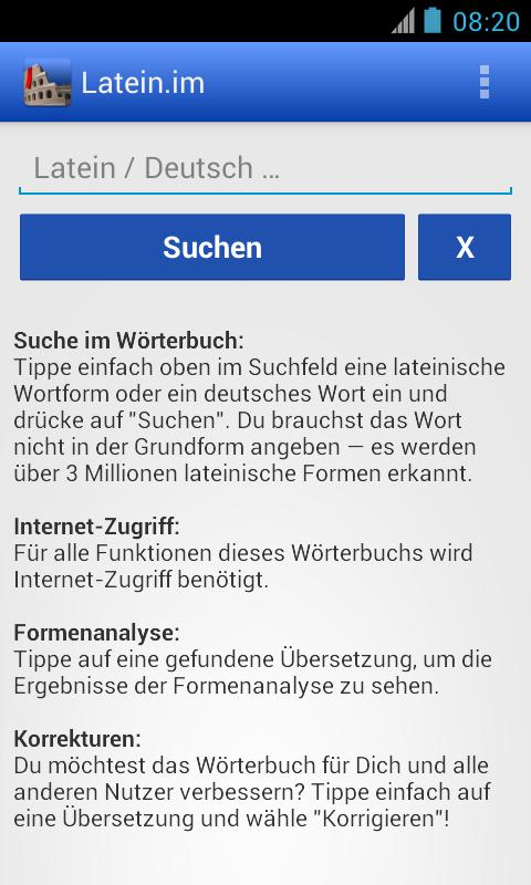 Latein-Wörterbuch mit Formenanalyse – Latein.me APK-Download ...