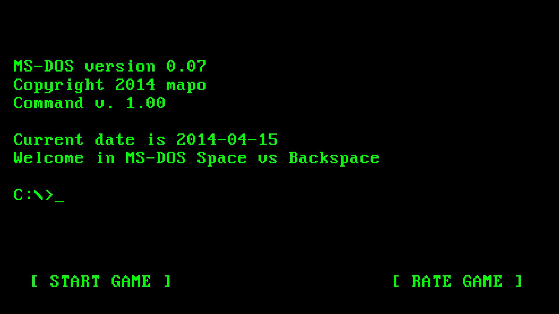 MS-DOS Space vs Backspace for Android - APK Download