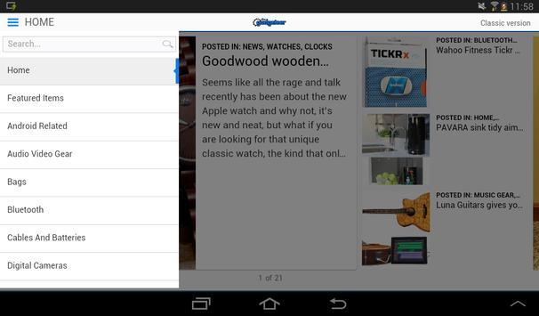 The Gadgeteer apk screenshot
