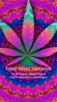 Psychedelic Marijuana Live Wallpaper FREE poster