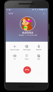 Fake call From marina 2018 screenshot 8