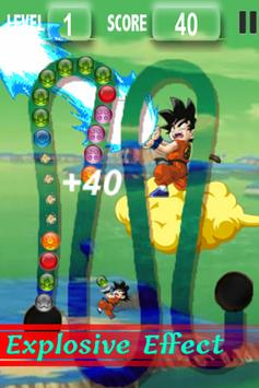 Goku Kid Play Marble Zuma screenshot 2