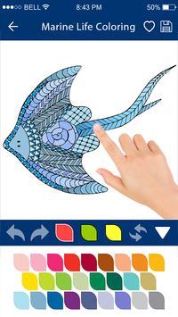 Colouring Games - Marine Life screenshot 1