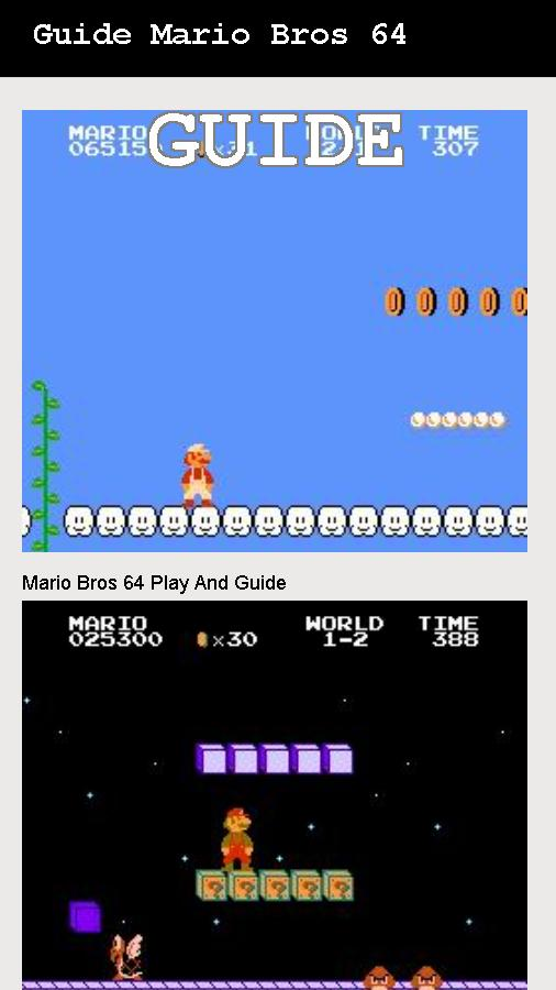 Super Mario Bros Nes 64 Tips for Android - APK Download