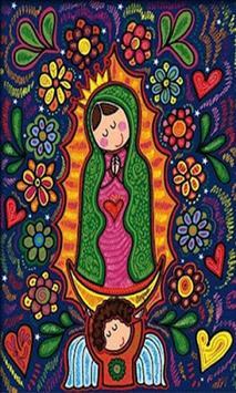 Virgen De Guadalupe En Dibujo poster