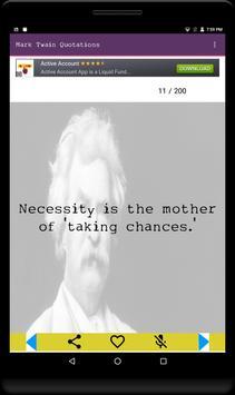 Mark Twain Quotations-Loved it screenshot 2