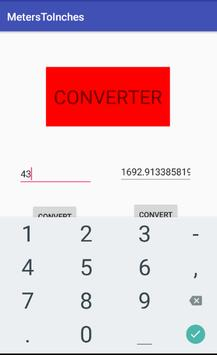 Converter - Meters/Inches apk screenshot