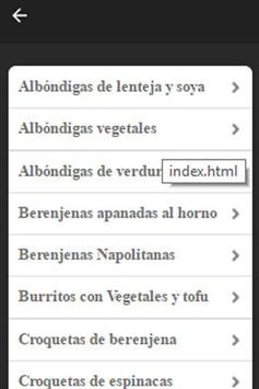 Recetas Vegetarianas Fáciles screenshot 4