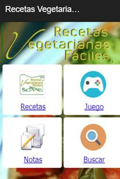 Recetas Vegetarianas Fáciles poster