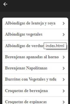 Recetas Vegetarianas Fáciles screenshot 1