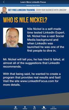 Nile Nickel's LinkedIn Course apk screenshot