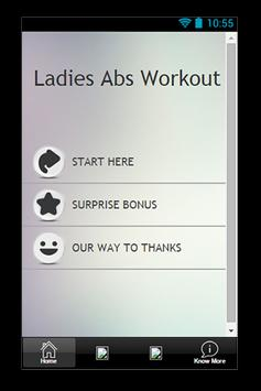 Ladies Abs Workout Guide poster