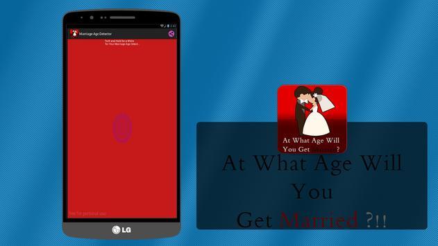 Marriage Age Detector (Prank) apk screenshot
