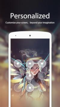 Angel FaceLock theme apk screenshot