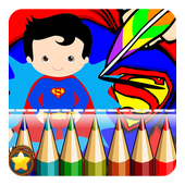 Kids Super Heroes Coloring Book icon