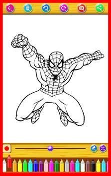 Kids Super Heroes Coloring Book poster