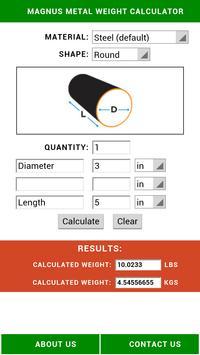 Metal Weight Calculator poster