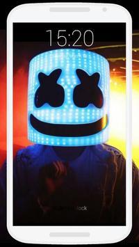 Marshmello Lock Screen poster
