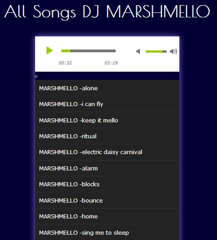 Download Lagu Happier Marshmello Laguaz: All Songs DJ MARSHMELLO Für Android