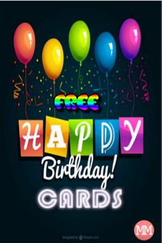 Free Happy Birthday Cards Plakat Screenshot 1