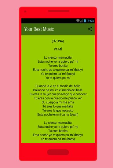 NUEVA) Pa Mí - Ozuna Ft Tory Lanez for Android - APK Download