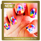 Awesome Different Nail Colors On Fingers icon