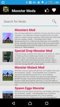 Monster Mod For MCPE. apk screenshot