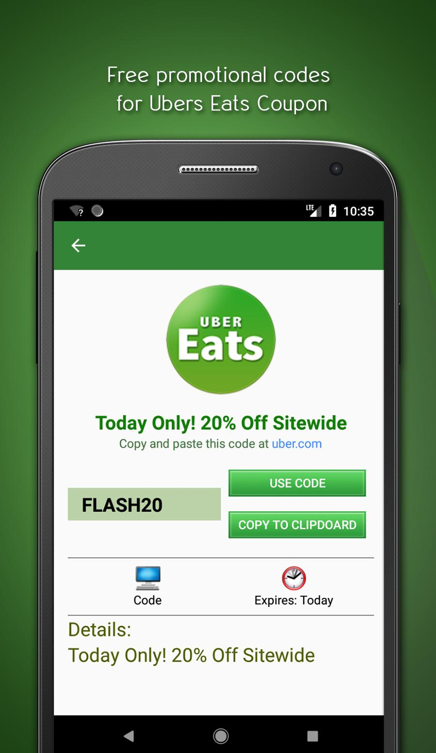 Free Uber Eats Coupon and Promo Code for Android - APK Download
