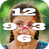Photo With Clock Wallpaper App icon