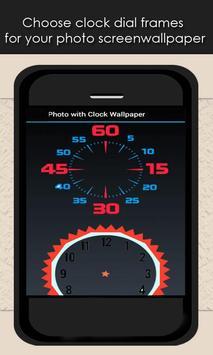Photo With Clock Wallpaper App apk screenshot