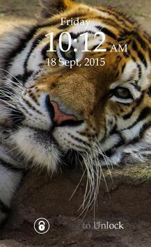 Tiger Keypad Screen Lock Skin poster