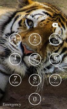 Tiger Keypad Screen Lock Skin screenshot 1