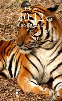 Tiger Keypad Screen Lock Skin apk screenshot