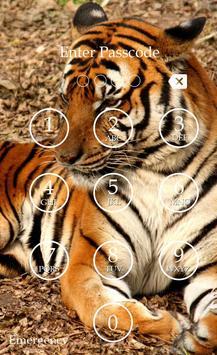 Tiger Keypad Screen Lock Skin screenshot 3