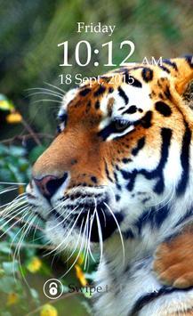 Tiger Keypad Screen Lock Skin screenshot 4