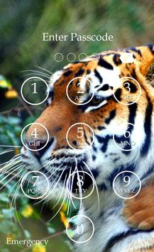 Tiger Keypad Screen Lock Skin screenshot 5