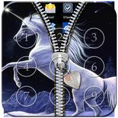 Unicorn Passcode Zipper Lock icon