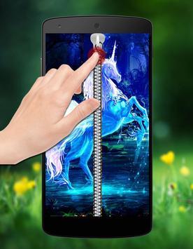 Unicorn Passcode Zipper Lock apk screenshot