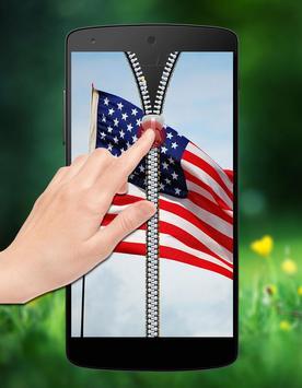 USA Flag Passcode Zipper Lock apk screenshot