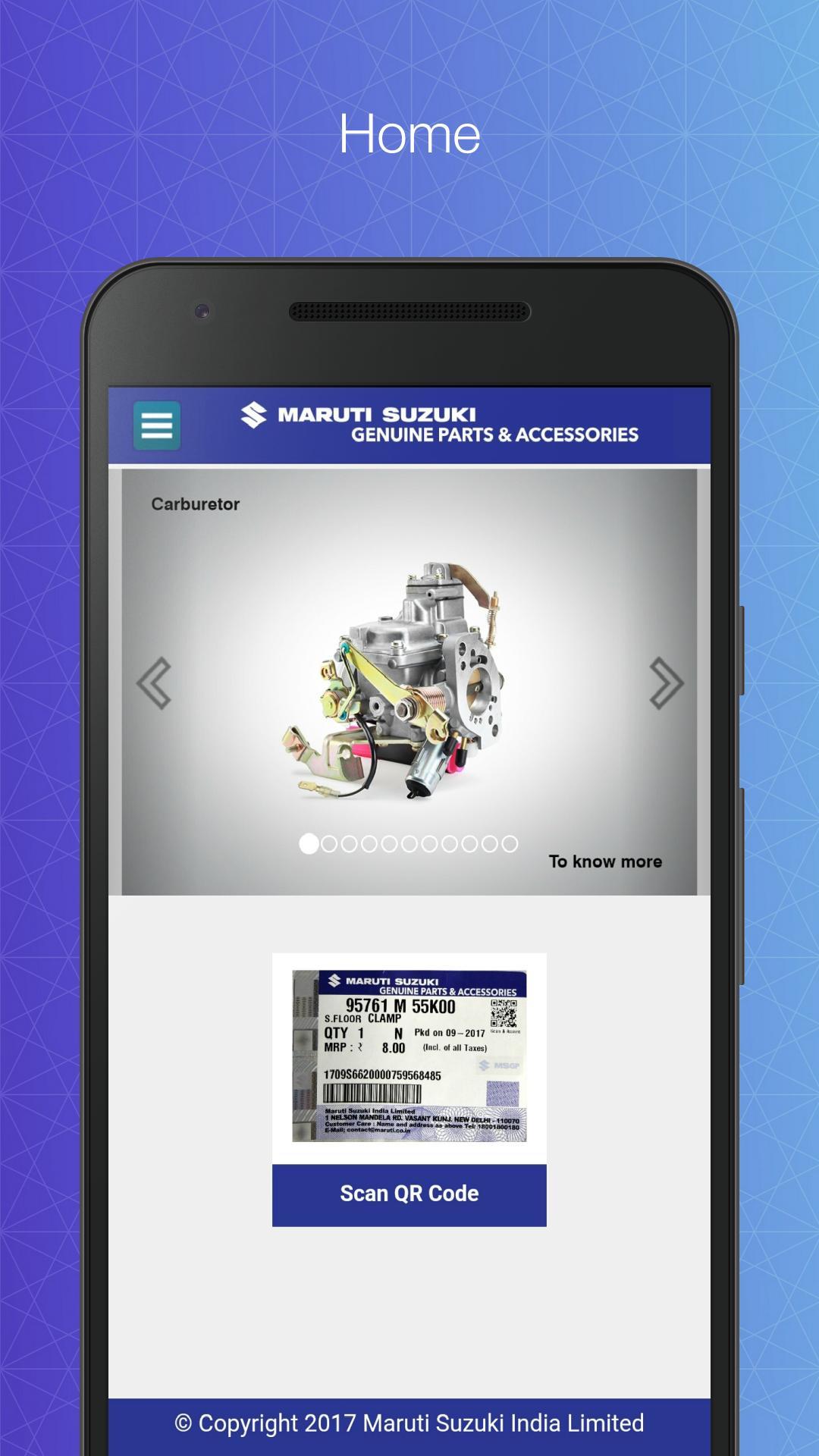 Maruti Suzuki - Scan & Assure for Android - APK Download