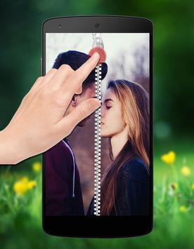 Couple Photo Zipper LockScreen poster