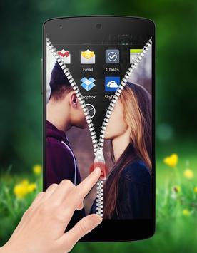 Couple Photo Zipper LockScreen apk screenshot