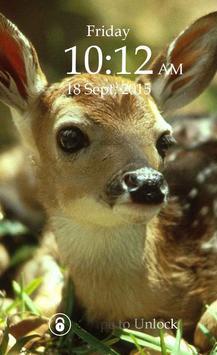 Deer Keypad Screen Lock Theme poster