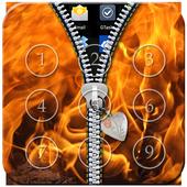 Fire Zipper Lock icon
