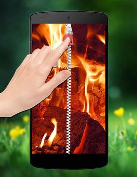 Fire Zipper Lock apk screenshot