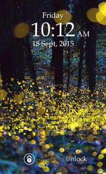Fireflies Keypad Lock Screen poster